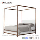 Classic Style Low Fabric Panel Four-Poster Bed (OZ-FB-1049)