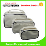 Promotion PU White Cosmetic Bag Organizer With Mirror