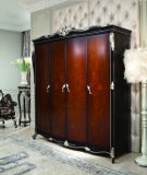Ol- D4008A-1 Classical Wooden Bedroom Furniture Wardrobe