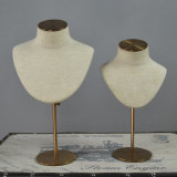 Fiberglass Jewelry Mannequin Display with Chrome Base