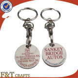 2015 Wholesale Custom Trolley Coin Keyring/Custom Cheap Metal Trolley Coin with High Quality/Promotional Trolley Coins
