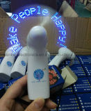 Promotion Handheld LED Flashing Mini Message Fan with Logo Printed (3509)
