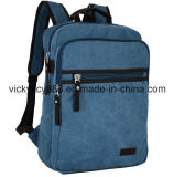Double Shoulder Canvas Laptop Leisure Travel School Bag Backpack (CY1825)