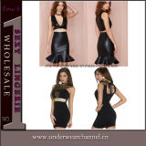 Wholesale Ladies Costume Lingerie Party Clubwear Leather Dress (6891)