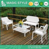 Simple Patio Sofa Set Rattan Sofa Set Synthetic Wicker Sofa Set (Magic Style)