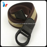 Mix Color Polyester Belt with Double Rings for Men
