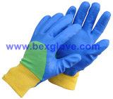 Cotton Interlock Liner, Nitrile Coating, Rough Finish Safety Gloves