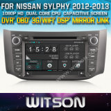 Witson Car DVD Player with GPS for Nissan Sylphy (W2-D8901N) Steering Wheel Control with Capacitive Screen CD Copy 3G WiFi RDS