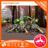 Commerical Tree Design Kids Plastic Slide Outdoor Playground