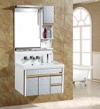 Wall Hung Simple Design Basin Top Commercial PVC Bathroom Vanity