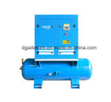 Oil-Lubricated Receiver Mounted Screw Electric Air Compressor (KA7-13/250)