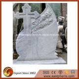 European Natural White Granite Tombstone