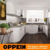 Home Design Modern White Lacquer MDF Wooden Kitchen Furniture (OP15-HS8)