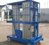 Elevating Lift Platform 300kg 6m Double Column Aluminum Alloy Lifting Table