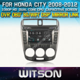 Witson Car DVD for Honda City 2008-2012 Car DVD GPS 1080P DSP Capactive Screen WiFi 3G Front DVR Camera