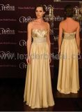 Strapless Evening Dresses Gold Jeweled Wedding Prom Dress E62