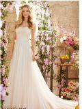 2015 Latest Lace A-Line Bridal Wedding Dresses (WD5801)