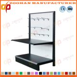 Single Sided Metal Pegboard Shop Store Shelving with Hooks (Zhs321)