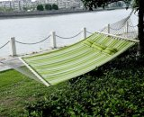 Portable Hammock Double with Pillow Indoor Outdoor Use