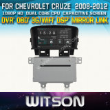 Witson Car DVD for Chevrolet Cruze 2008-2012 Car DVD GPS 1080P DSP Capactive Screen WiFi 3G Front DVR Camera