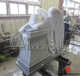Grey Granite Kneeling / Weeping Angel Monument / Tombstone