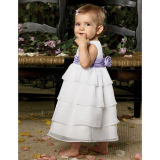 Lovely White Chiffon Layers Flower Girl Dresses