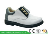 White/Black Kids Student Orthopedic Shoes with Firm Heel Counter