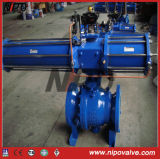 Cast Steel Flanged Trunnion Ball Valve with Electric Actuator