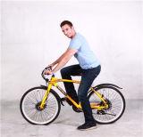 New 72V 240 Watt Lithium Battery Electric Snow Bike Mountain Bike Electric Bicycle Yellow Road Cycling