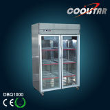 Kitchen Display Fridge Kitchen Upright Refrigerator (DBQ1000)