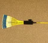 Fiber Optic Pigtial with 12 LC Connectors (Fiber jumper cables)
