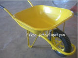 Yellow Grass Trolley Wheelbarrow Cart with Air Rubber Wheels Wb6400