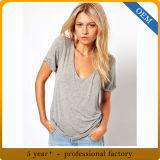 Factory Price Custom Fashion Bamboo Womens Tshirt