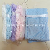 2016 Warming Minky DOT Microfibe Hem Edge Velour Baby Blanket