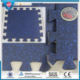 Rubber Gym Flooring, Outdoor Playground Interlocking Rubber Floor Tiles