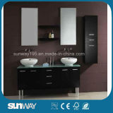 Hot Wood Bathroom Furniture with Mirror