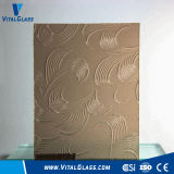 3-6mm Bronze Mayflower Pattern Glass with CE&ISO9001