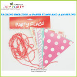 Double-Side Printed Paper Flag for Party