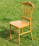 Solid Golden Resin Napoleon Chair for Banquet