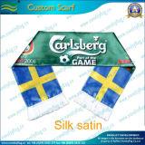 Customsports Fans Printing Silk Satin Scarf (T-NF19F10004)