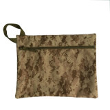 Camouflage Waterproof Nylon Documents Bag with Zipper Closed