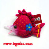 Plush Color Small Fish Key Chain