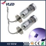 LED Car Fog Light Bulb Automotive Lamp H3 100W