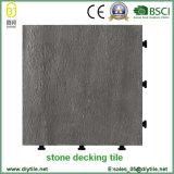 Hot Selling Non Slip Slate Stone Interlocking Flooring DIY Tile