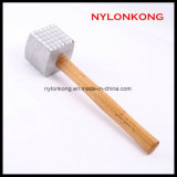 Aluminum Alloy Meat Hammer Kitchen Tools with Wooden Handle