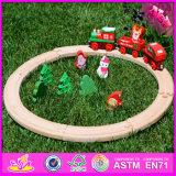 2016 Wholesale Baby Wood Track Racer Train Set, 19 Pieces Kids Wood Track Racer Train Set, Wood Track Racer Train Set W04c058