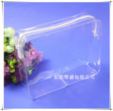 Glass Clear PVC Toiletry Cosmetic Bag Cosmetic Pouch with Zip