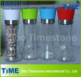 Hot Sale Colorful Glass Manual Spice Grinders (TM20140412)