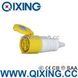 IP44 IEC60309 16A 3 Pins Yellow  Industrial Connector