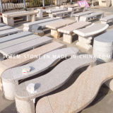 Natual Granite Stone Bench for Outdoor Garden or Park